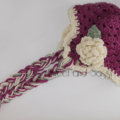 Crocheted Sugar and Spice Beanie. Size 3-6 months