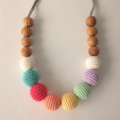 Custom listing for Glass Rainbows crochet teething necklace