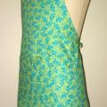 Green Leaves Fabric 'Kitchen Basics' Apron - Christmas Birthday, Gift Idea