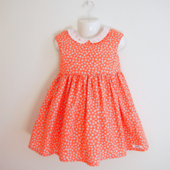 Size3 Pink x Grey dot Party dress