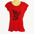 Red Punk Tinkerbell TShirt - screen print - ladies size 10 avail