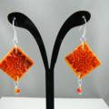 Fire Tile Earrings