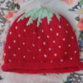Strawberry Baby Beanie
