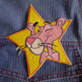 Pink Panther iron on patches