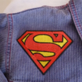 """Superman"" inspired iron on patch"