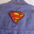 """""""Superman"""" inspired iron on patch"""