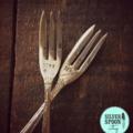 Hand stamped vintage cake forks - Mrs Mrs