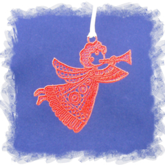 Free Standing Lace Embroidery (FSL) Angel 2 *please choose preferred colours*