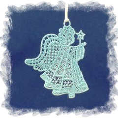 Free Standing Lace Embroidery (FSL) Angel 4 *please choose preferred colours*