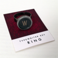Made-to-order vintage typewriter-key adjustable ring - CHOOSE YOUR KEY