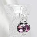 Lilac Swarovski Crystal Rivoli Earrings