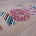 Fabric alphabet letters - custom made alphabet educational toy