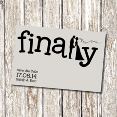 FINALLY - Wedding - Printable Save the Date - Personalised and fun