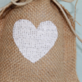 Burlap Favour Bags. Heart Stenciled Wedding Favor Bags.10 Packs. Various Colours