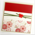 Blank card | Red Orientals | Thank You Thinking of You Just Because Friend