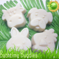 Bath time Buddies Natural  Goats Milk Soap - Pack of 4