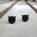 Pretty Little Kitty Stud Earrings