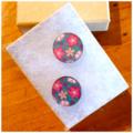 Laser Cut Wooden Flower Earrings