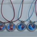 Frozen Bottle Cap Necklaces Set of 8 Party Favors
