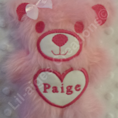 Personalised Furry Teddy Bear - Quality Handmade from Quality Supplies