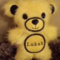 CUSTOM ORDER FOR JOY - Yellow with Black Detail Personalised Furry Teddy Bear