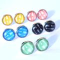 ARROW Glass Stud Earrings 12mm, Yellow, Mint, Pink, Blue