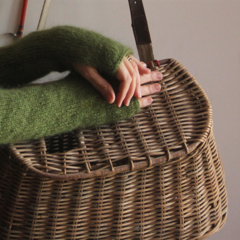 Forest Fairie - Mohair Wool Fingerless Gloves, Arm Warmers