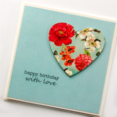 Birthday card | Vintage heart | Limited Edition | Mum Friend Sister Daughter