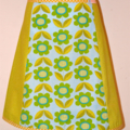 Lime green and floral A line skirt