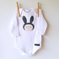 Bunny with Glasses Long Sleeve Onesie