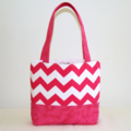 Girls Pink Chevron Tote Bag