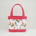 Mini Tote Bag - Pink Owls