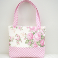 Girls Tote Bag - Pink Floral