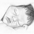 Portrait drawing in BW A4, custom illustration from your photo