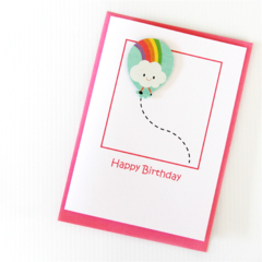 Any Age Birthday card personalised children kids rainbow custom 1 2 3 4 5 6 7 8