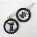 6 Minecraft Party Favors, Zipper Pulls