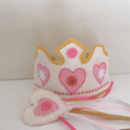 Dress up Princess Crown and Wand, girls birthday hat