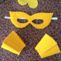 ~ Superhero Set ~ Reversible Cape, Mask & Cuffs ~