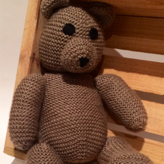 Oliver Hand Knitted Teddy Bear