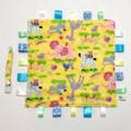 ZOO ANIMALS Baby Security Blanket Blankie Taggie Toy + Free Dummy / Taggie Saver
