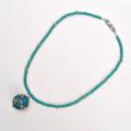 Nepal Blue Resin Pendant Necklace