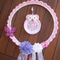 Crochet Owl Wall Hanging/Dreamcatcher