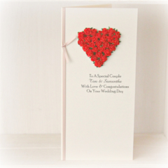 Wedding card | Personalised | Custom Made | Red Roses