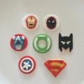 Superhero Edible Cupcake Toppers