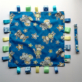 *FREE POST* BLUE JUNGLE ANIMALS ~ Baby Security Blanket Blankie Taggie Toy
