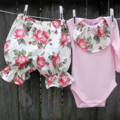 long sleeve onsie and bloomer style pants, size 00, free postage