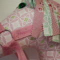 Hobby Horse Pink & Green Shabby Chic Gutermann Fabrics Ring a Roses Collection