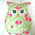Owl Heat Bag / Pack - Tilda Rosealie Green