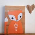 Mr. Foxy Wooden Wall Plaque - Bedroom Decor / Children's Room / Baby Nursery
