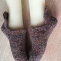 Small Slocks - Felted Slipper-Socks,  sizes 37-38